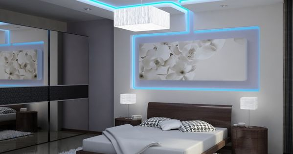 indirekte led deckenbeleuchtung schlafzimmer blau wei. Black Bedroom Furniture Sets. Home Design Ideas