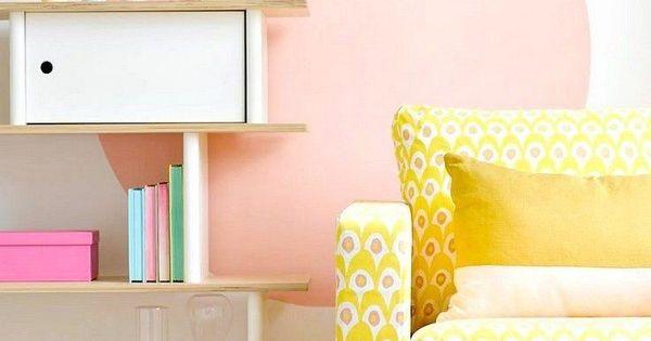 Peinture D Corative Dessin G Om Trique Sublimez Les Murs Pastel Baguettes Et Canap S