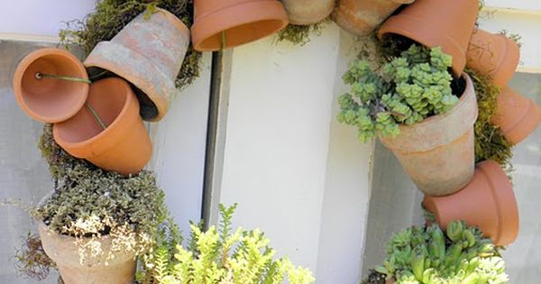 Plant Pot Wreath :: Something we can create now while dreaming of