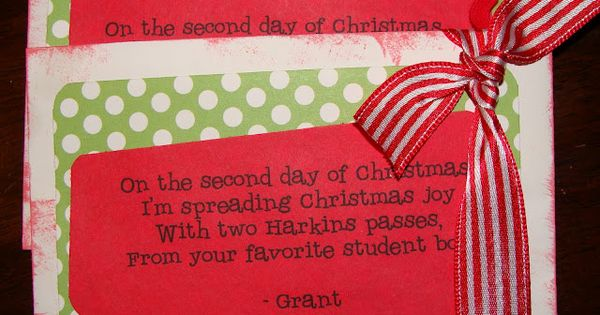 Fun rhyming 12 days of Christmas gift ideas – Teachers, Neighbors, Secret
