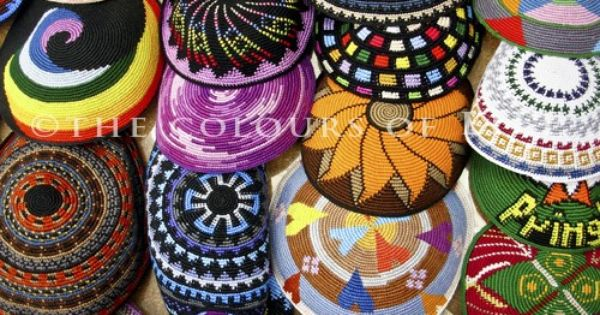 Original Photograph Crocheted Kippot In Ben Yehuda Street Jewish Crafts Crochet Jewish Culture