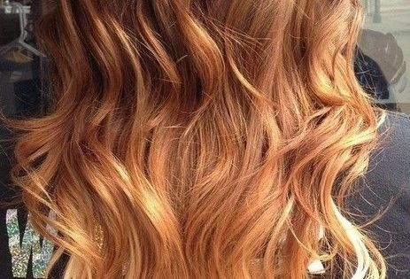 Red to Blonde Ombre Hair for Long Hair - Ombre Hair Color