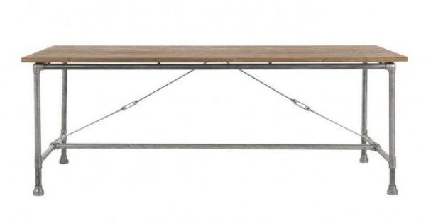 tisch teak metall m bel aus rohren pinterest teak und essen. Black Bedroom Furniture Sets. Home Design Ideas