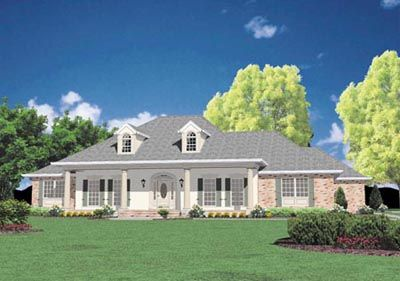 Pretty Close Needs Steps To Attic Downstairs Not Sure About 2 Bedrooms On Main Floor Coun Country Style House Plans Colonial House Plans Southern House Plans