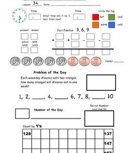 2nd Grade Saxon Math Meeting Forms Saxon Math Math Meeting Kindergarten Math Worksheets