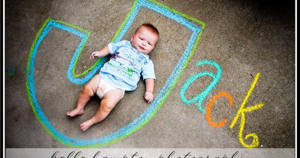 Sidewalk chalk photo idea