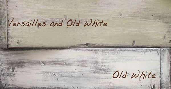 #chalkpaint Annie Sloan Chalk Paint colors: Duck Egg Blue, Old White, Versailles,