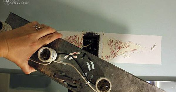 How To Replace My Butt Ugly Bathroom Light Fixture Quite Do Able Diy For The Home