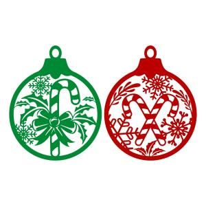 Christmas Ornament Svg Cuttable Designs Candy Cane Ornament Christmas Candy Cane Christmas Ornaments
