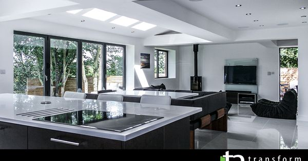 North facing kitchen and living room extension ideas North facing living room