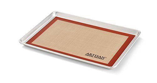 Artisan 1 2 Size Pan And Mat Baking Set Silicone Baking Mat Baking Mat