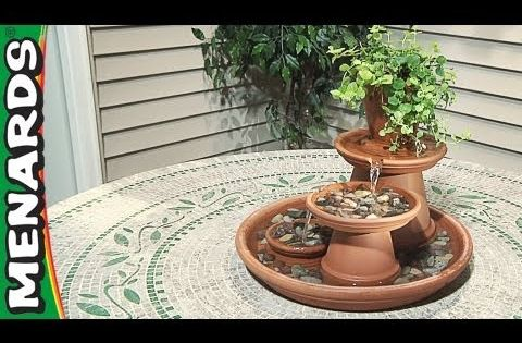 Terracotta Table Top Fountain