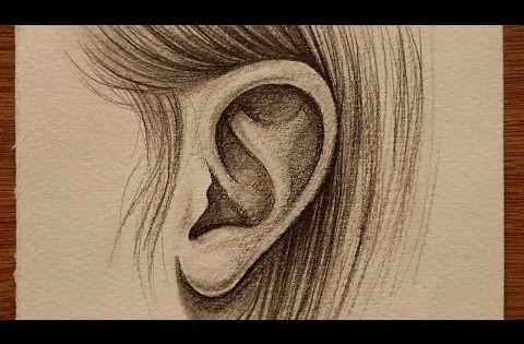 تعليم الرسم بالرصاص كيف ترسم الاذن للمبتدئين Youtube Drawings Instagram Posts Step By Step Drawing