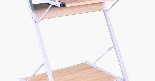 Biurko Mlodziezowe Na Stelazu Metalowym I Wysuwana Polka Pod Klawiature Kolka W Podstawie Mdf Okleina Meblowa Wymiary Biurka Wys Desk Drafting Desk Home