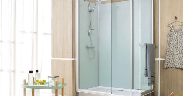 cabine de douche compl te pluriel access leda douche ouverte en verre 2772 douche pinterest. Black Bedroom Furniture Sets. Home Design Ideas
