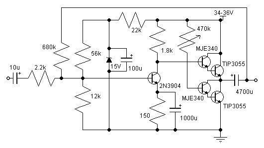 10 14w Class A Amplifier Audio Amplifier Amplifier Electronic Schematics