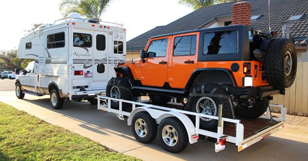 38 Campers Tow 35 Jeeps 2 Samurai And 1 Willys Camper Towing Truck Camper Jeep