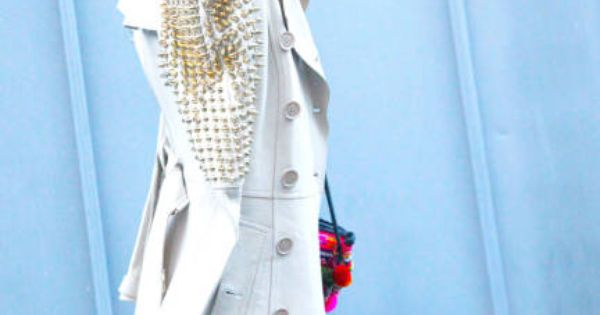 luv this gold studded trench coat