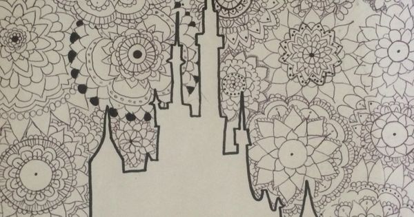 Zentangle Mandala Disney Castle Comment Tell Me What You Think Mandalas Pinterest Disney