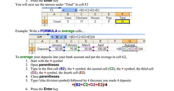 excel 2013 formulas cheat sheet pdf