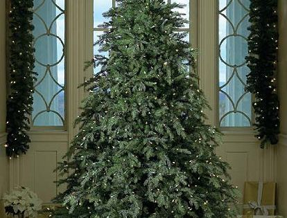 Downswept Hunter Fir Pre Lit Artificial Christmas Tree 7