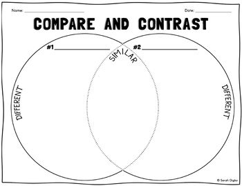 Venn Diagram Compare And Contrast Worksheet With Images