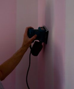 The Painted Surface How To Paint Over Striped Walls Page 1 Striped Walls Painting Stripes On Walls Striped Room