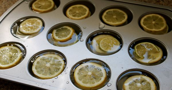 lemon ice cubes for a punch bowl or ice tea pitcher. great