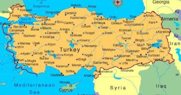pin turkey map on - photo #11