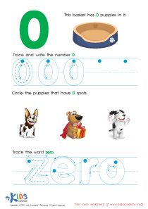 Learning Numbers Worksheets Trace And Write Number 0 Pdf