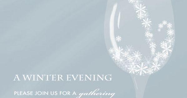 party invitations - Winter Evening | Wedding Invitation Crush | Pinterest | Party invitations ...