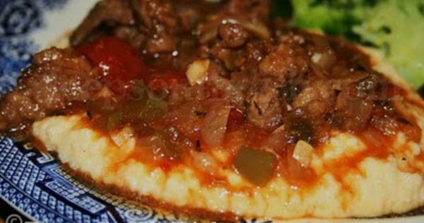 Grillades and Grits - Strips of round steak, slow stewed ...
