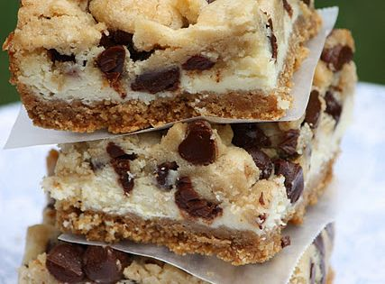 Cheesecake cookie dough bars. Chocolate Chip Cookie Dough Cheesecake Bars Source: very