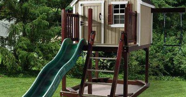 outdoor play houses with slides | Playhouses and Kits to Buy -