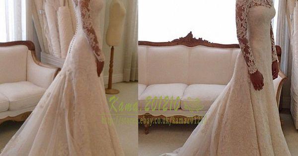 Elegant Lace Wedding Dresses White Ivory Off The Shoulder Garden Bride Gown