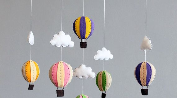 diy baby mobile - how to make your own hot air balloon