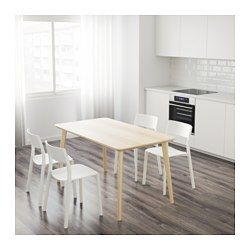 LISABO Table, ash veneer IKEA | Extendable dining table