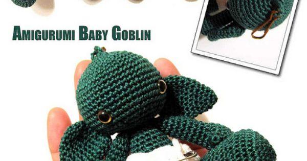 """""""this crocheted amigurumi baby goblin is adorable!"""" Amigurumi crochet"""