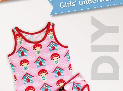 Kinder Unterwäsche aus schönen Stoffresten einfach selbernähen - Schnittmuster (Gr. 92 bis