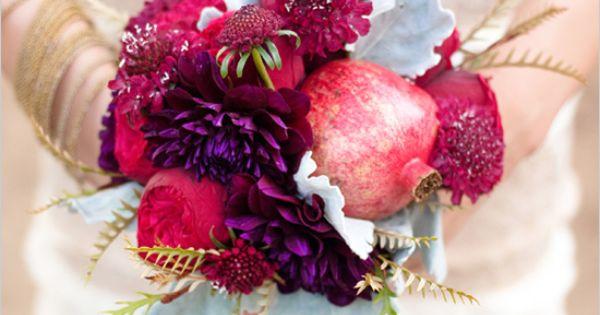 Pomegranate Wedding Ideas for a rustic chic wedding.
