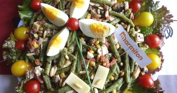 salade de haricots verts compl te recette de cuisine marmiton une recette cuisine. Black Bedroom Furniture Sets. Home Design Ideas