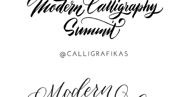 Modern calligraphy summit teach fonts letters