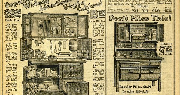 1914 Sears Household Catalog Kitchen Furniture Early 20th Century American Homes Household