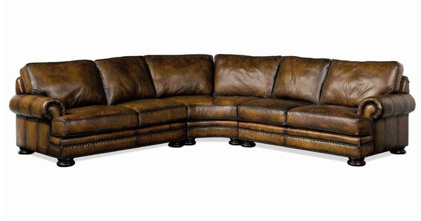 Foster Leather Sectional Sofa With Nailhead Trim By Bernhardt Baer 39 S Furniture Sofa