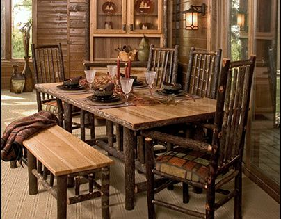 log cabin dining room furniture how to make your own furniture on log furniture rustic b. Black Bedroom Furniture Sets. Home Design Ideas