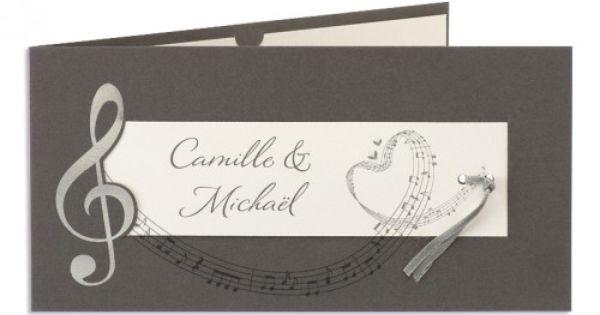 faire part mariage traditionnels th me musique deco mariage 2 pinterest mariage et musique. Black Bedroom Furniture Sets. Home Design Ideas