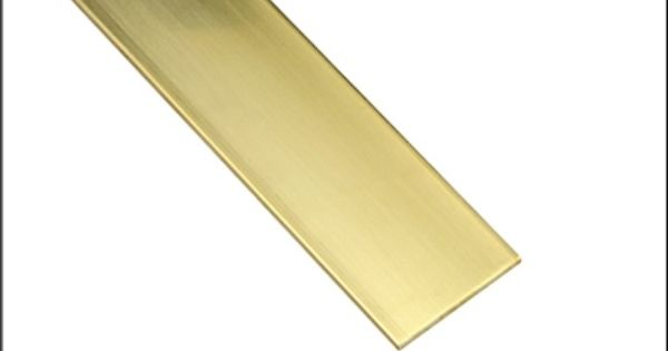 Solid Brass Strip 064 Inch Thick X 1 Inch Wide X 12 Inches Long Pkg Of 2 Solid Brass Brass Stripping