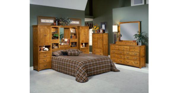 Calypso Oak King Pier Wall Unit Bed with Storage Bernie