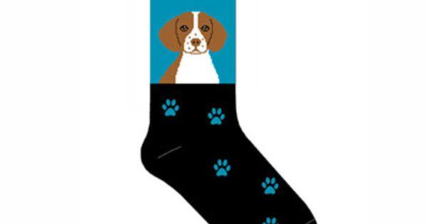 Brittany Spaniel Dog Socks Dog Socks Brittany Spaniel Dogs Spaniel Dog