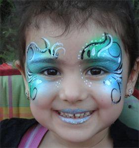Kinderschminken Blauer Sommernachts Traum Kinder Schminken Meerjungfrau Schminken Kinderschminken